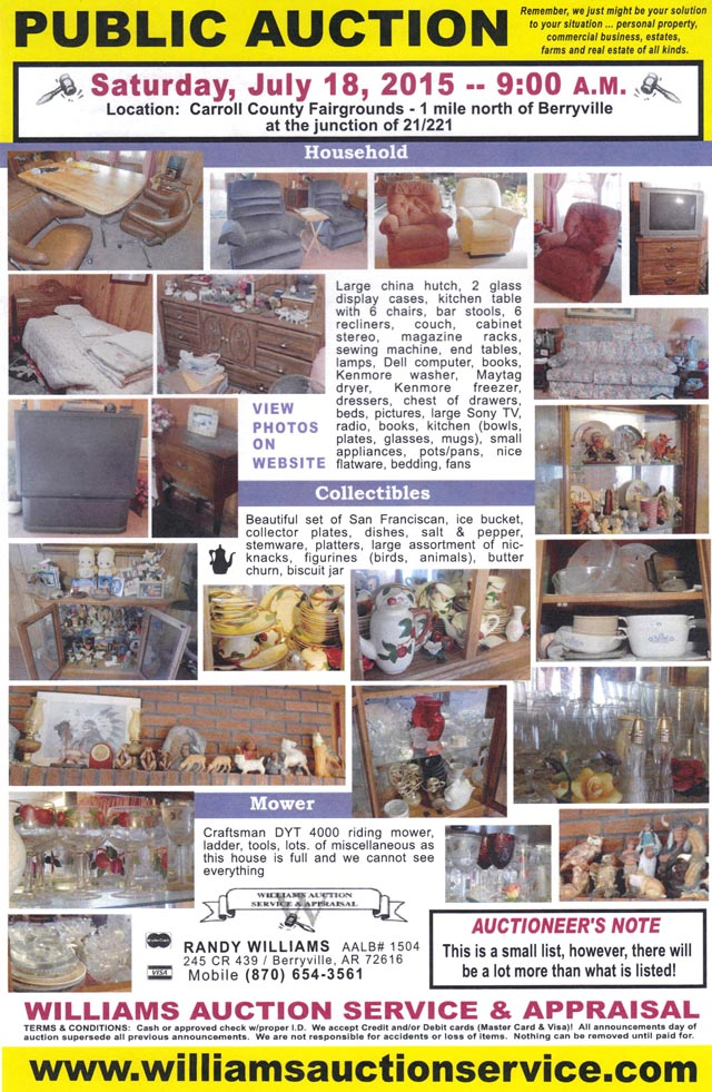 July 18 2015 Auction