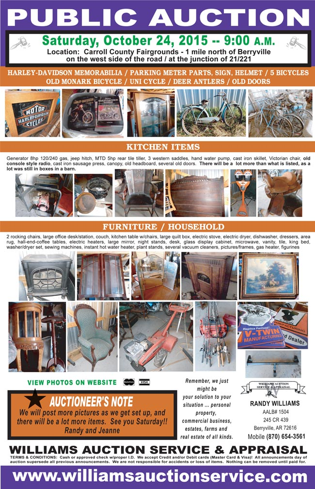 Oct 24 2015 - Auction - Oct 24 2015 - Arkansas