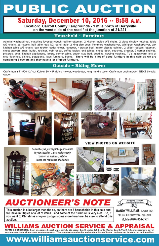 December 10 2016 Auction