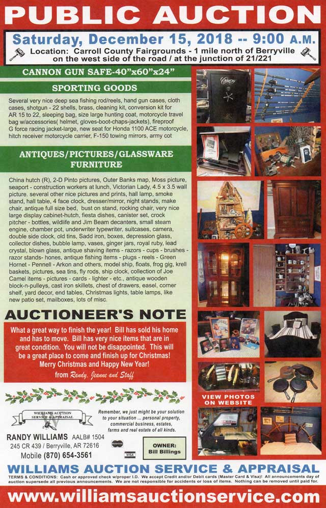 Dec 15 2018 Public Auction