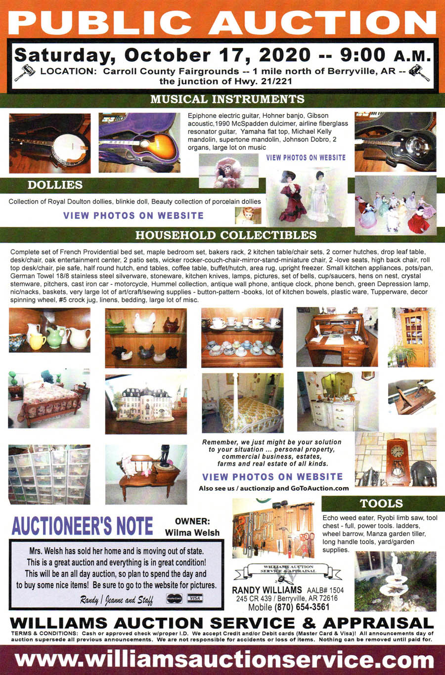 October 3 2020 Auction