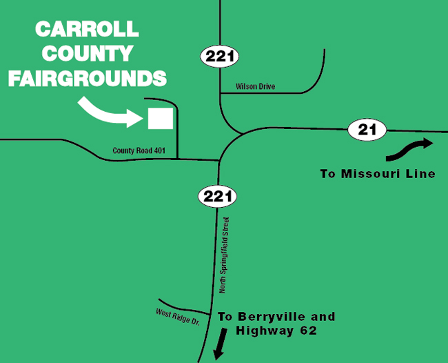 Carroll COunty Fair Grounds Map