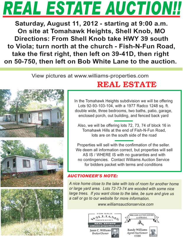 AUG 11 2012 AUCTION