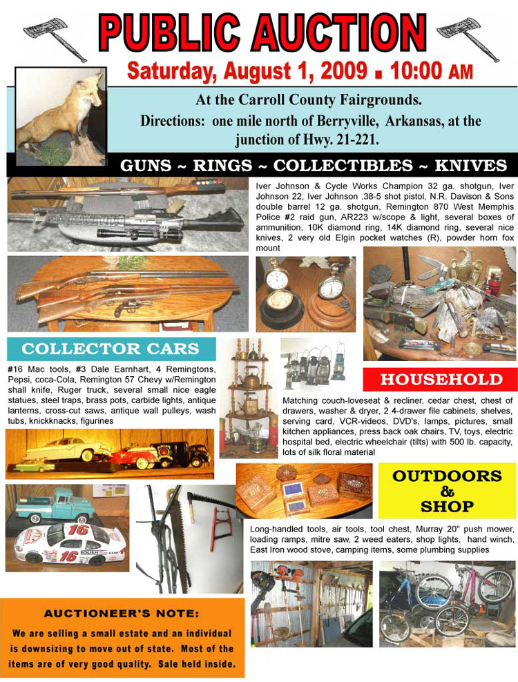 Auction July 18 Saturday