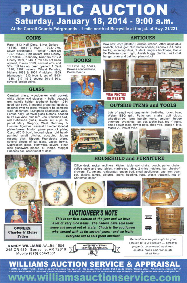 January 18, 2014 Auction