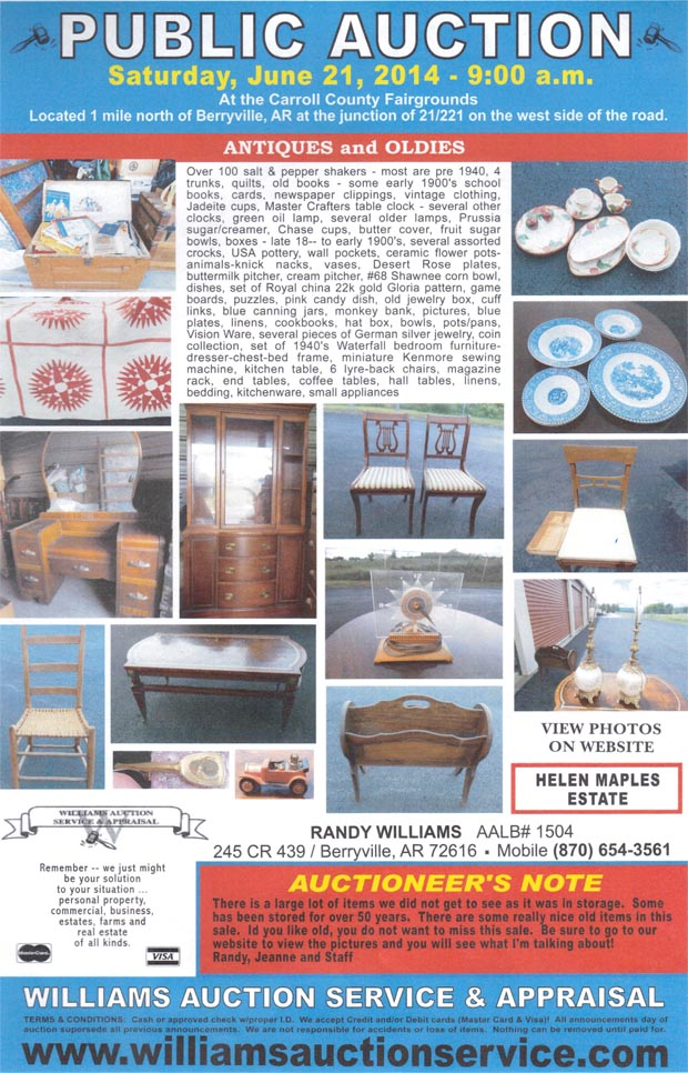 JULY 21 2014 Auction