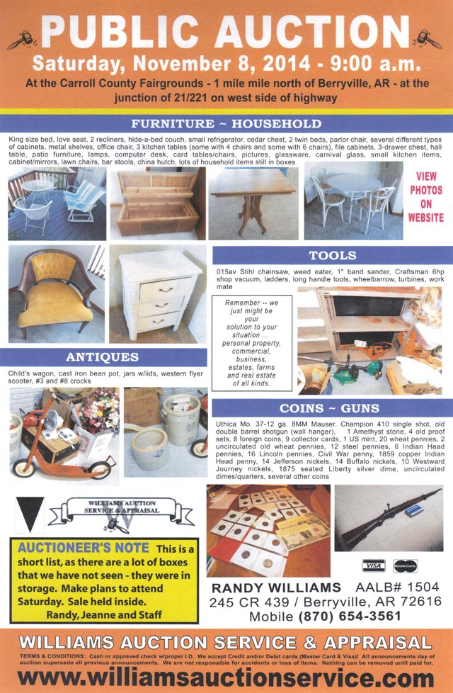 AUCTION NOV 8 2014