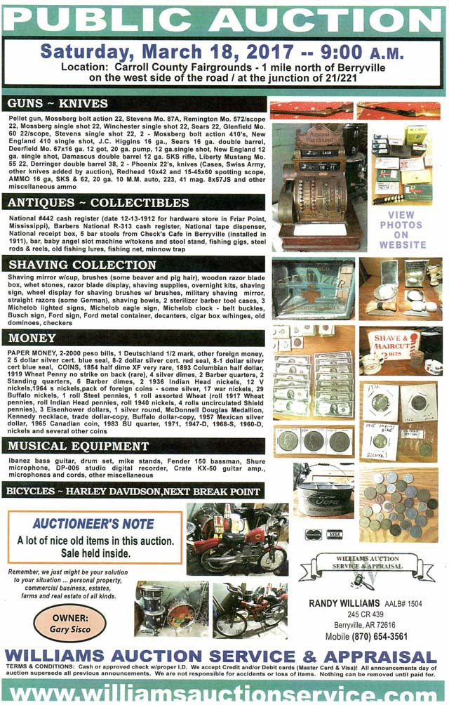 March 18 2017 Auction
