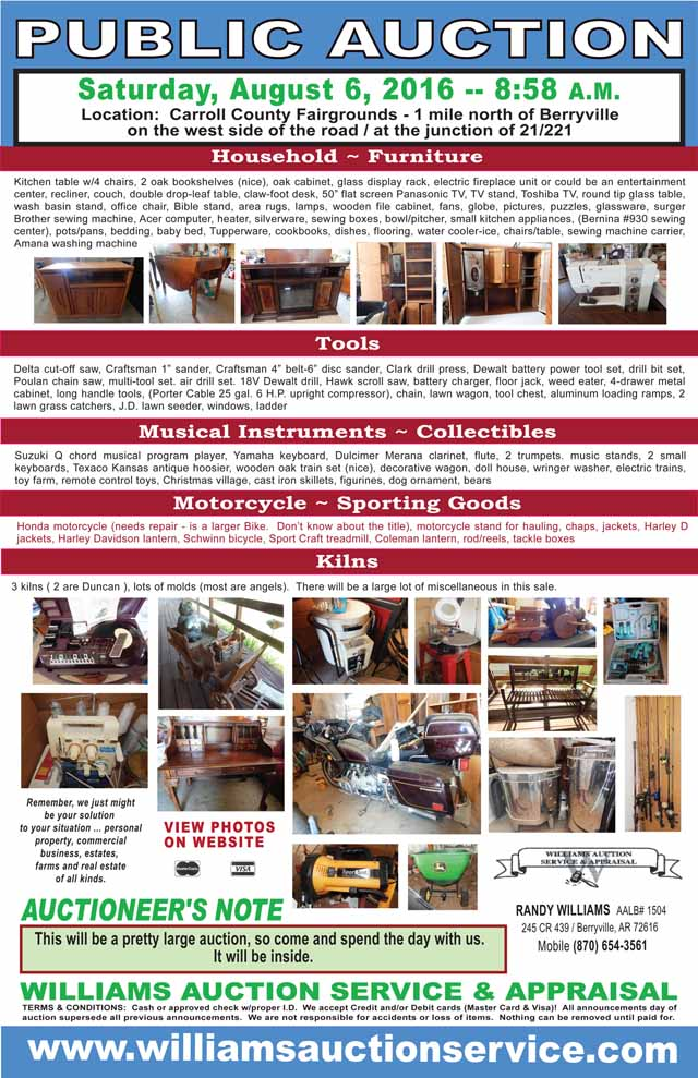 Aug 6 2016 Auction