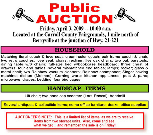 March 31 2009 Auction